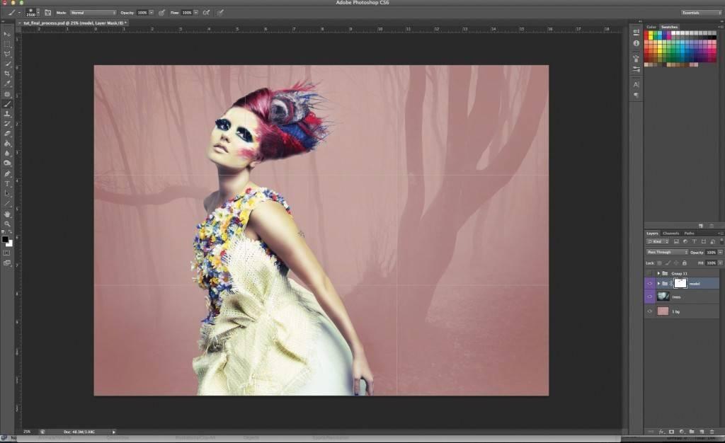 Как сделать эффект наложения фотографий - OndoShop.ru