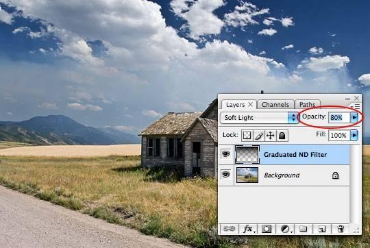 step7 - Фотоэффект с помощью одного слоя. Быстро и просто.