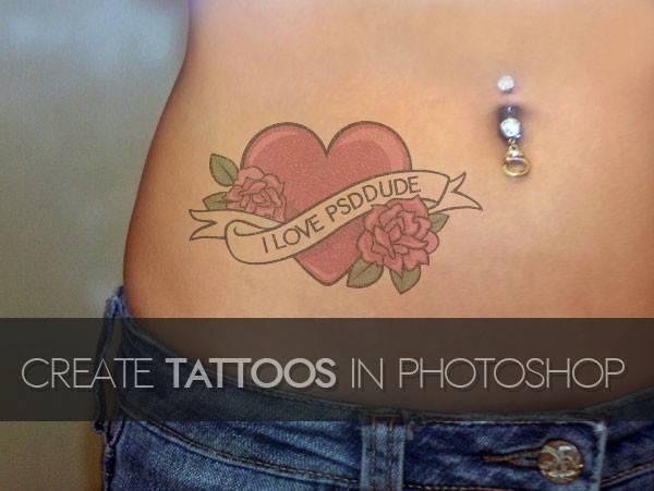 0 - Создание татуировки на теле в Фотошоп