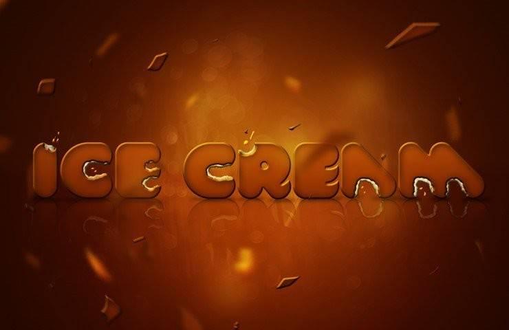 """0 - Как создать """"вкусный"""" текстовый эффект в виде мороженого"""
