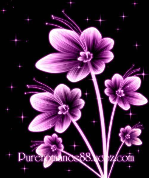 02 - Рисуем красивые светящиеся цветы.
