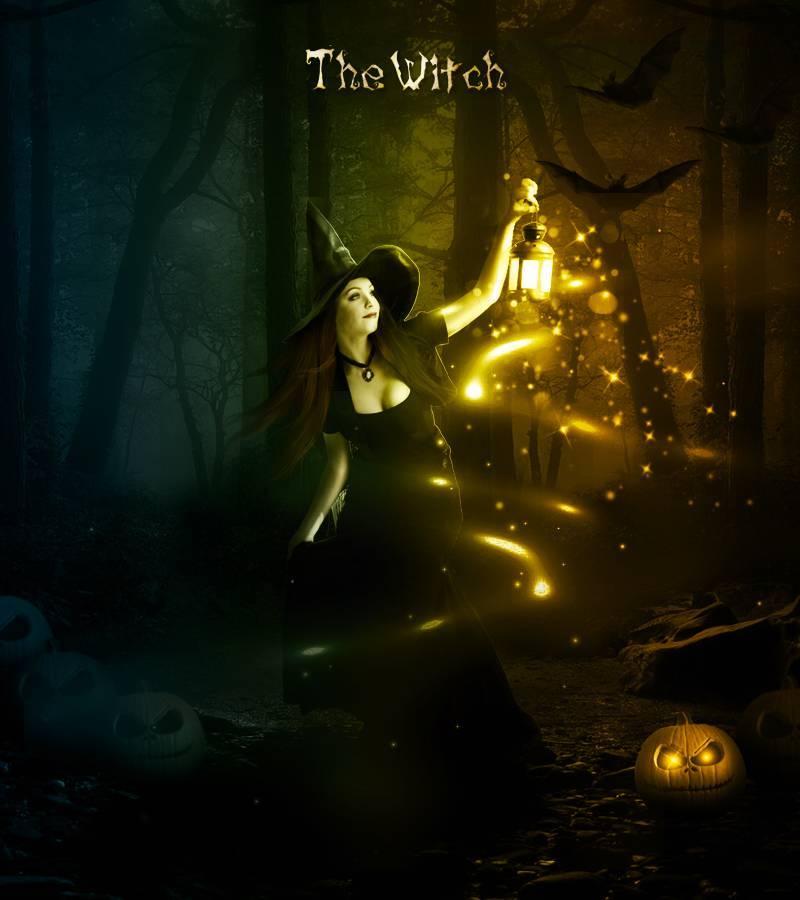"""0 - Создание фотоманипуляции """"Ночь Хэллоуина"""""""